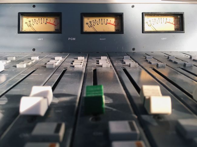 Studio Technology In A Row Control Panel Sound Mixer Sound Control Major Tom Be. Ready.