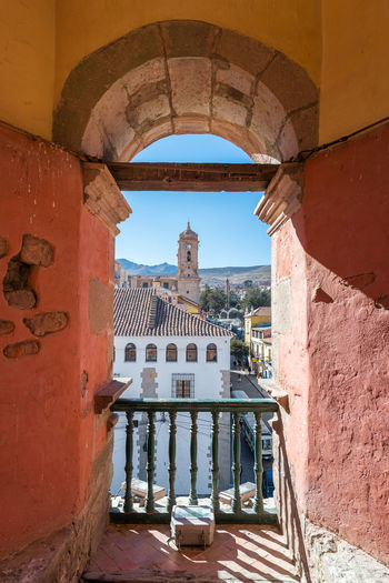 View of Potosi, Bolivia including the mint and the cathedral Altiplano America Andes Bolivia Building Cathedral Cerro Church City Cityscape Colonial Heritage Highest Historical Latin Potosi Rich Rico South Street Town Travel Unesco Urban View