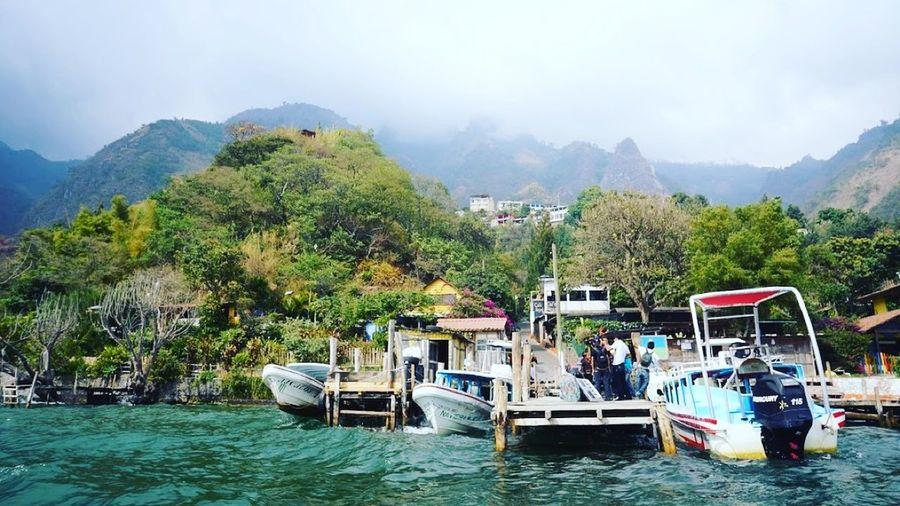 Beautiful Day Water Atitlan Lake Guatemala First Eyeem Photo