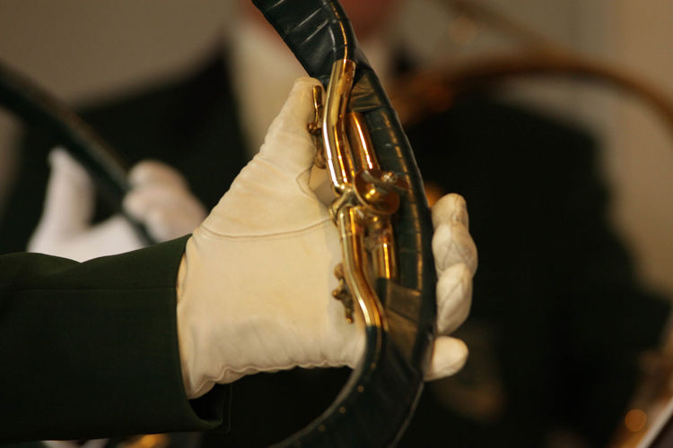 French Horn Arts Culture And Entertainment Close-up Focus On Foreground Gold Colored Krebserösch Musical Instrument Musician Wind Instrument
