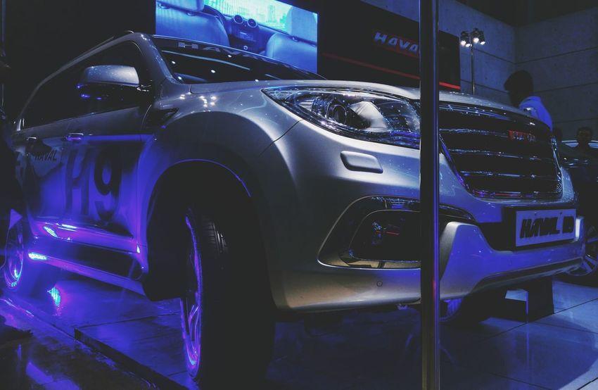 Haval H9 Car Transportation Night Indoors  Land Vehicle Illuminated No People SUV CarShow