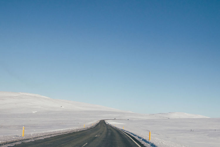 Clear Sky Copy Space Day Iceland Landscape Nature No People Outdoors Road Road Trip Roadtrip Sky Snow The Way Forward Transportation Travel Winding Road EyeEmNewHere