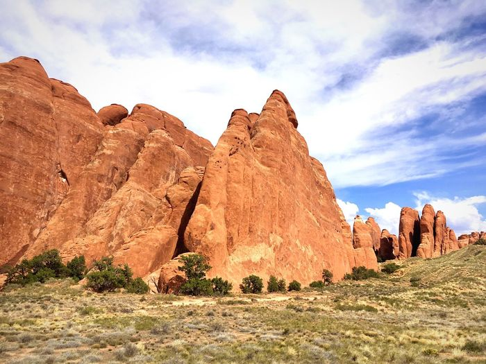 Rock - Object Rock Formation Geology Nature Beauty In Nature Cloud - Sky Sky Physical Geography Outdoors Scenics Day Tranquility Travel Destinations Rock Hoodoo Landscape Low Angle View No People Desert Breathing Space Lost In The Landscape
