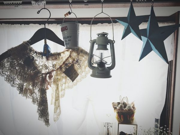 My Room Window Blue Star Blue Star Stars Interior Design Interior Lanthanum Vintage Lace Vintage France Vintage Detachable Collar Collar Foppery
