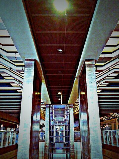 Train Station Shining Metal Beaming