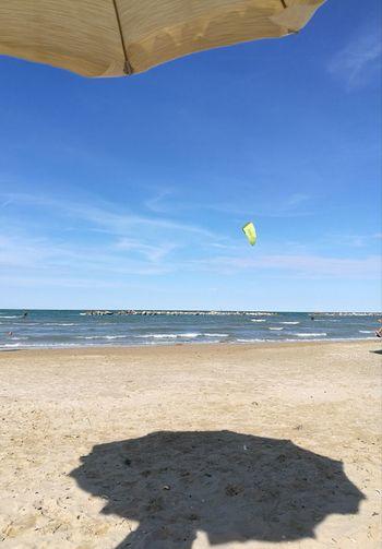 Water Sea Beach Sand Summer Blue Sunlight Shadow Tennis Kite - Toy