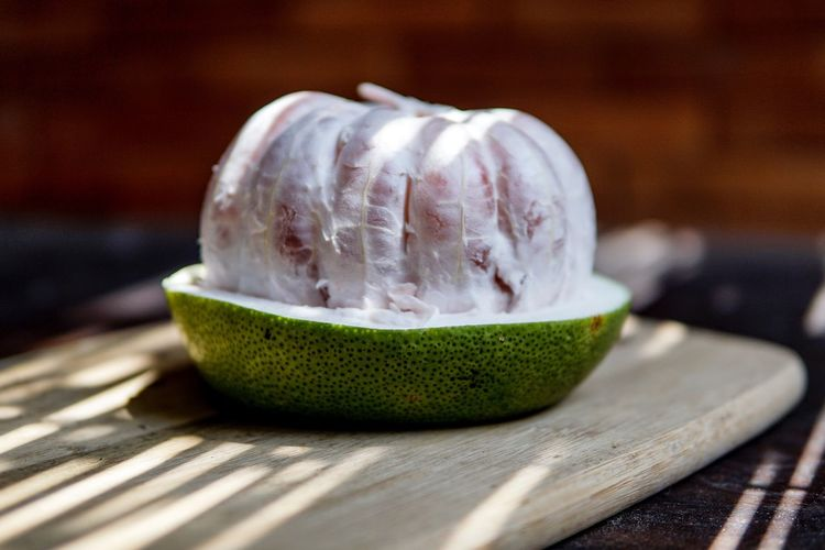Fruit Pomelo Food And Drink Indoors  Wood - Material Table No People Freshness Healthy Eating Food
