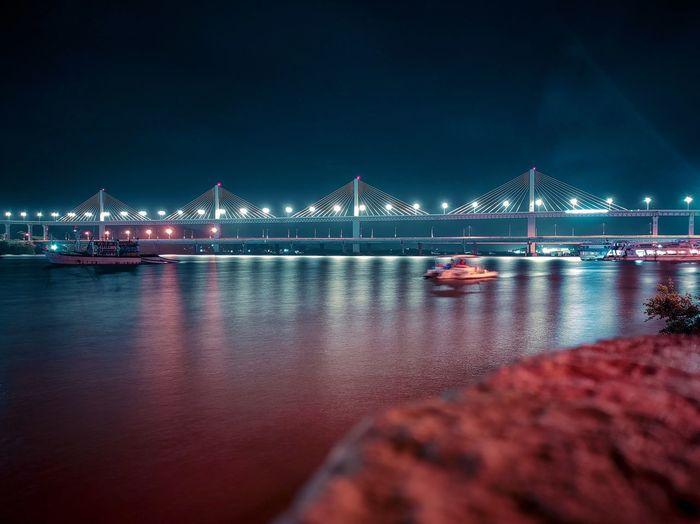 Atal setu - cable stayed bridge. the third longest in india.