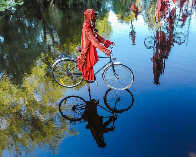 Installation Nomade - Guy Lorgeret No People EyeEm Selects EyeEmNewHere Contrasting Colors Shadows Shadows & Lights Örebro  Social Art Metaphorical Photography Migration Nomade Openart15 Openart2015 Water Day Nature Reflection Tree Outdoors Art And Craft Capture Tomorrow Bicycle