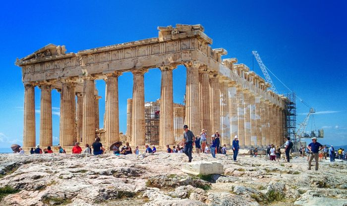 The Acropolis Of Athens in Greece Tourists Tourist Attraction  Tourist Destination Acropolis Acropolis, Athens Athens Athens, Greece Parthenon Parthenon Acropolis Greece Architecture Travel Sightseeing Landmark Europe Old Ruin Travel Destinations Large Group Of People Ancient Civilization Tourism Ancient