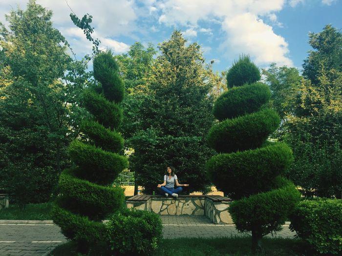 Green Park Cloud - Sky Girl Eye4photography  EyeEm Gallery