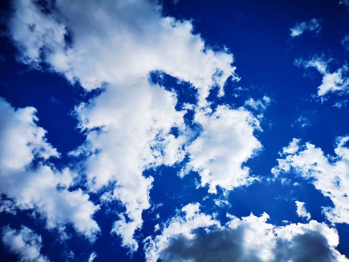 Blue Space Backgrounds Sky Close-up Cloud - Sky
