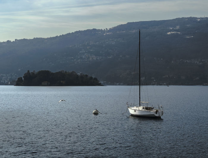 Lago maggiore vista da Verbania Lake Sailboat Water Landscape Outdoors Cloud - Sky Nature