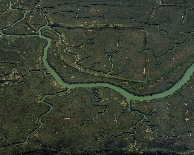 Aerial view of a mudflat from the Golfe du Morbihan Bretagne Finistere France Golfe Du Morbihan Aerial View Agriculture Backgrounds Beauty In Nature Bretagnetourisme Day Full Frame Landscape Mudflat Nature No People Outdoors Rural Scene Scenics Vasiere Winding River Winding Streacks