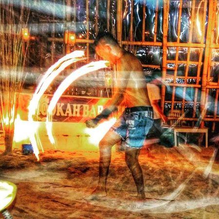 """One of my fav shot.. ""The Man On fire"" HookahBar Boracay2015❤️ Firedancer Dailylifephotos DailyShots Travel Exploring Photography Photooftheday TravelingShow"