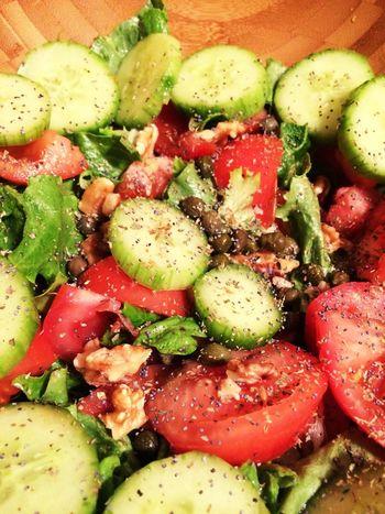 Salad Veggies Vegetables Greek Salad Healthy Eating Healthy Food Vegan Raw Vegan Food Eating