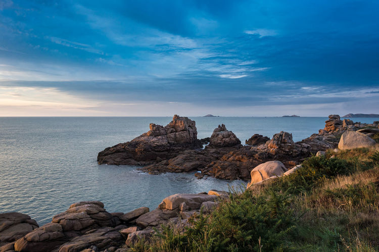 Atlantic Sea coast in the Brittany, France. Atlantic Ocean Beauty In Nature Brittany Coast Day Journey Landscape Nature Nature No People Outdoors Pink Granite Coast Ploumanac'h Rock - Object Scenics Sea Shore Sky Stones Tourism Travel Travel Destinations Water