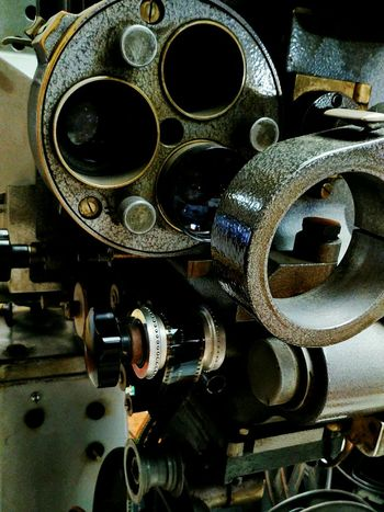 Metal Indoors  No People Close-up Technology Gear Cinema Projector For Movies Projector Old Projector Antique EyeEmNewHere The Week On EyeEm