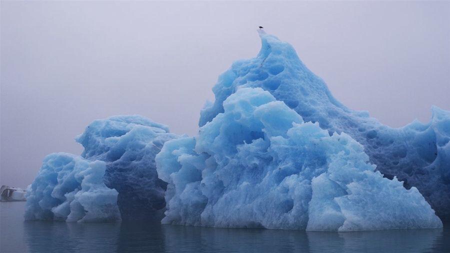 Frozen Sea Against Sky