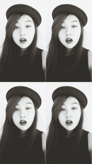 Randomly Black&white Blackandwhite Selfie