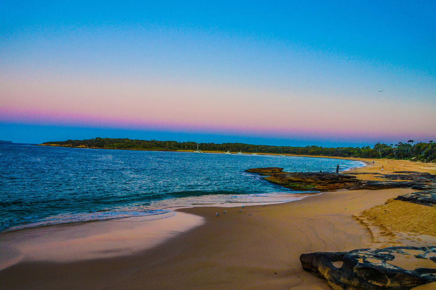 18-55mm Beach Beauty In Nature Blue Bundeena Clear Sky Coastline Day Horizon Over Water Idyllic Nature No People Outdoors Sand Scenics Sea Sky Sony Sony A3000 Sunset Tranquil Scene Tranquility Travel Destinations Vacations Water
