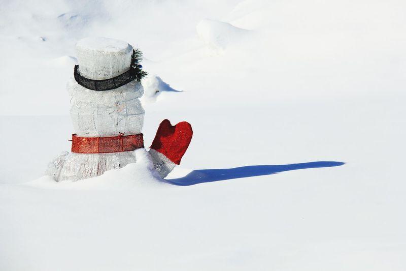 Snowman In Deep Snow