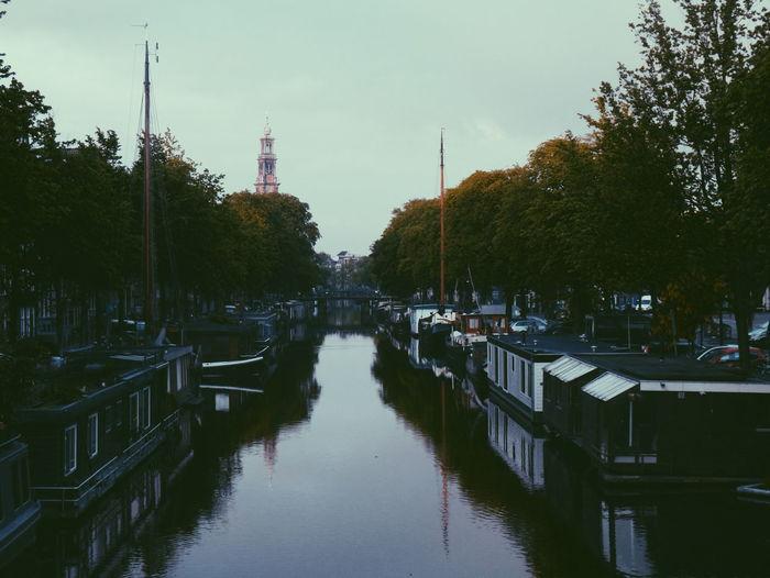 Westerkerktoren Canal Amsterdam