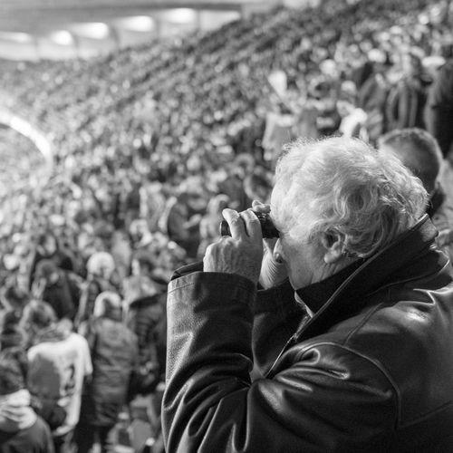 Focus On Foreground Lifestyles Looking Away Stadium Fujifilm Blackandwhite Real People