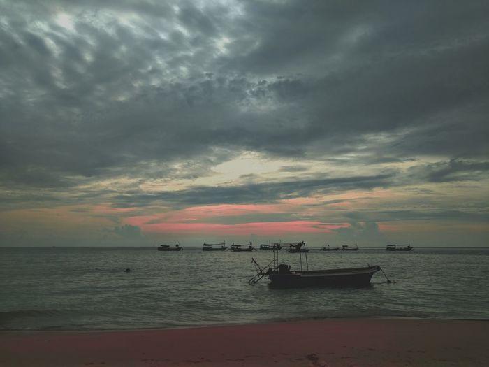 海邊夕陽 Sea Beach Horizon Over Water Sunset Cloud - Sky Water Nautical Vessel Nature Sky Beauty In Nature Sand Tranquility Silhouette Outdoors Scenics Transportation Vacations No People Travel Destinations Sailing