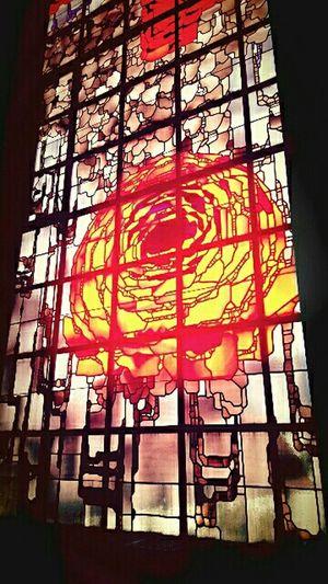 Velbert Church Kirche Kirchenfenster Churchwindow Rose🌹 Rose♥ Rose - Flower