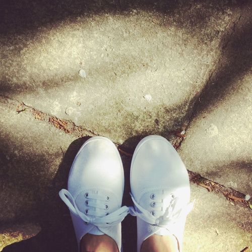 Hanging Out Walking Around White Shoes