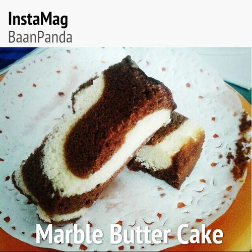 Marble butter cake by me^^ Baanpanda ZEBRACAKES Instamag Buttercake Bakery Foodporn