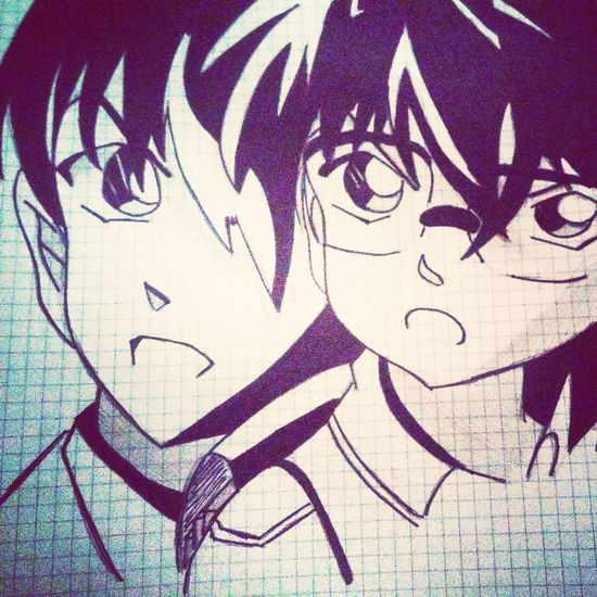 Detective Conan❤ Japan Anime Manga <3 Black & White Art, Drawing, Creativity Drawingsbyme Disegnoamanolibera Disegni Manga❤️