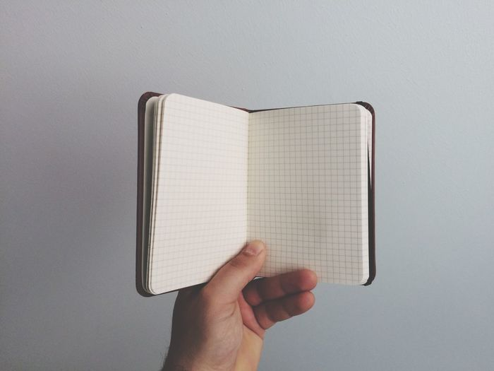 Man holding notebook