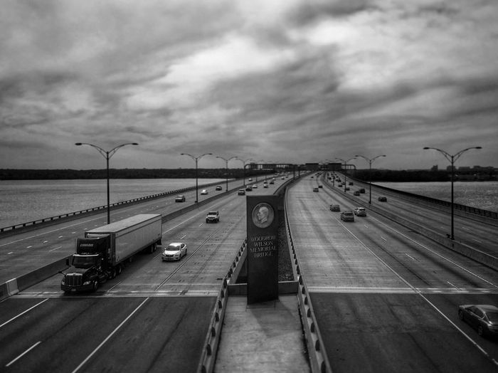 The giant coin of Woodrow. Nice to know there are still no tolls on this bridge. Black And White Bridge Bridges Bridge - Man Made Structure Bridgeporn Woodrow Wilson Memorial Bridge, Streetphotography The New Bridge Woodrow Wilson Memorial Bridge Rebuilt It's The Weekend The Weekend On EyeEm Out Cycling