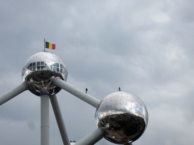 Atomium Belgium Brussels Bruxelles Day Outdoors Sky Building Achitecture Cloud - Sky Let's Go. Together. EyeEmNewHere EyeEm Selects Breathing Space