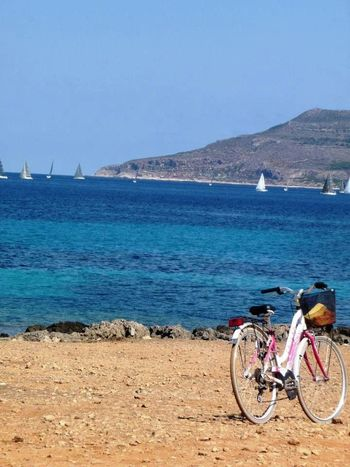 Beach Beauty In Nature Bicycle Cycling Favignana Outdoors Regata Sea Sicilia Sicily Water