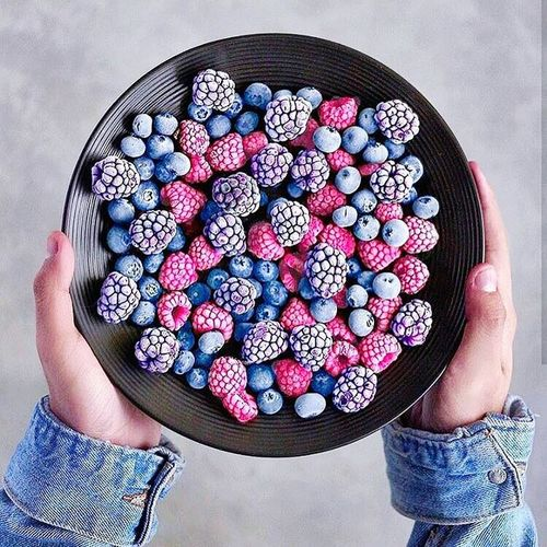 Sweet Food Fruit Directly Above Blueberry Food Human Body Part Dessert People Indoors  One Person Adult Adults Only Freshness Ready-to-eat Human Hand Day