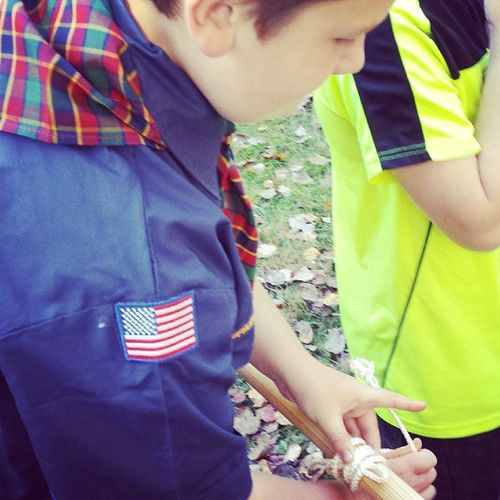 Making knots. Cubscouts Campout Lovethiskid