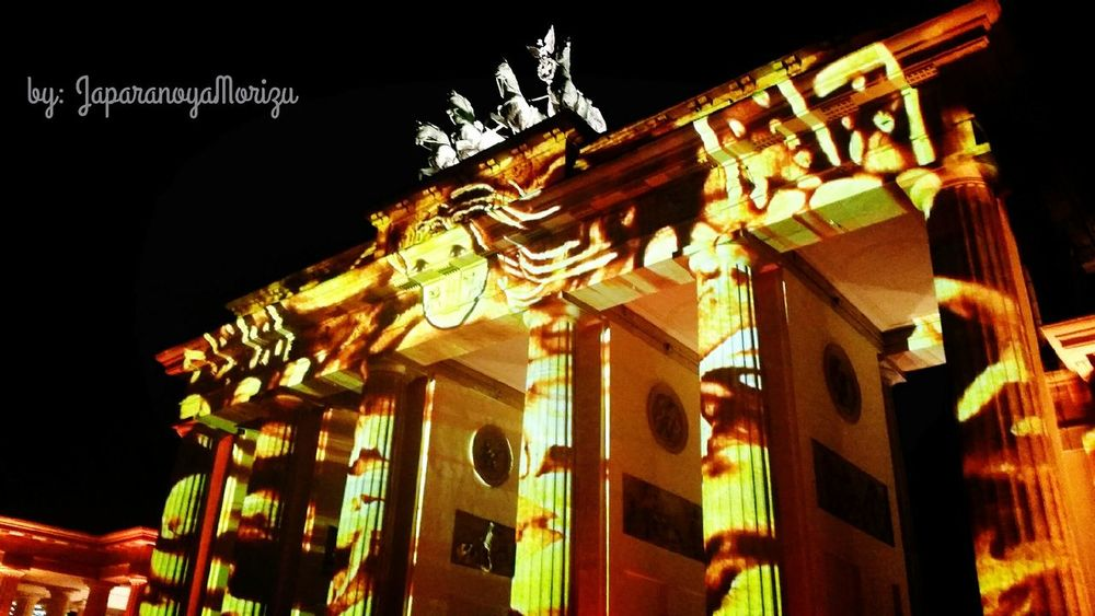 Building Exterior Architecture Built Structure Night Illuminated City City Life Information Sign Outdoors Hanging Out Berlin Festival Of Lights Festival Of Lights Lightning Flash