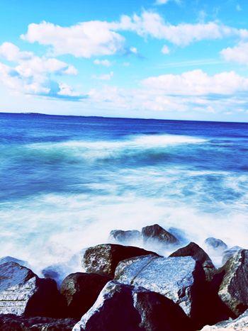 Long Exposure Sea Rocks From My Point Of View Sea_collection Longexposure Sea & Sky Eye4photography  EyeEm Best Shots This Week On Eyeem