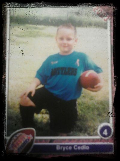 me playing football when I was 6....