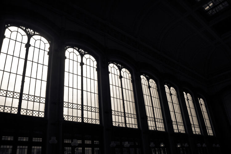 Arch Architecture Budapest, Hungary Contrast Day Indoors  Light And Shadow Low Angle View No People Nyugati Railway Station Railway Station Window