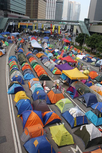 Hello World Street Photography Tents Photo♡ # Admiralty Hong Kong ⛺?