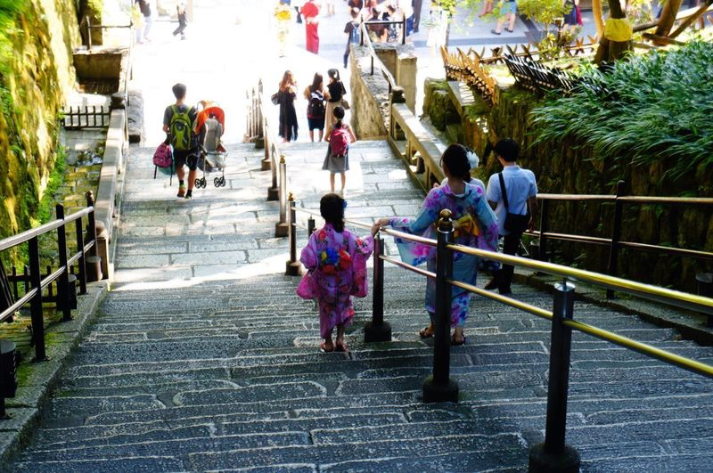 Steps Mother & Daughter Bonding Lifestyles Moments Family Holding Adventures In The City