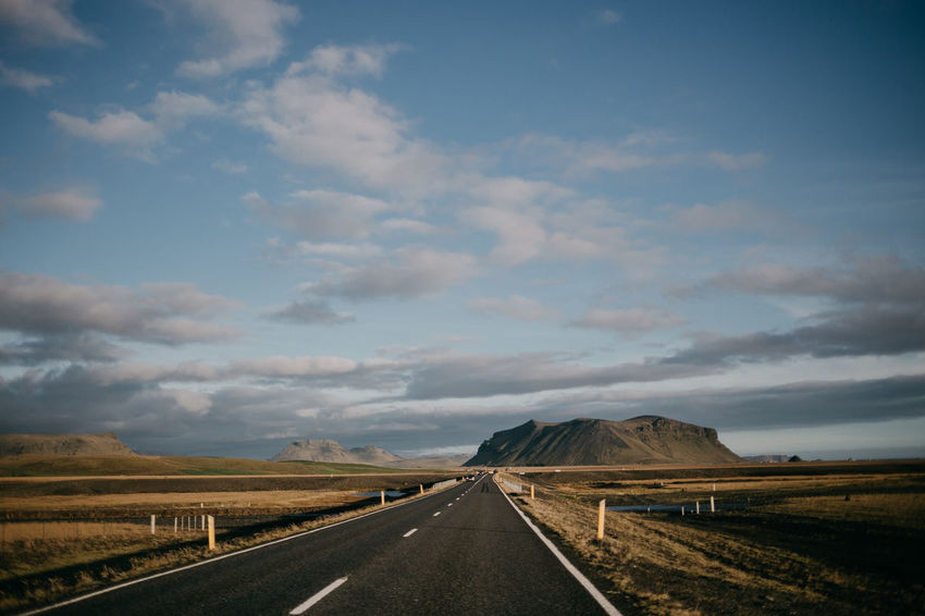 Iceland Iceland Memories Landscape_Collection Trip Beauty In Nature Canon Cloud - Sky Dividing Line Landscape Mountain Road Roadtrip Scenics The Way Forward Tranquility Transportation