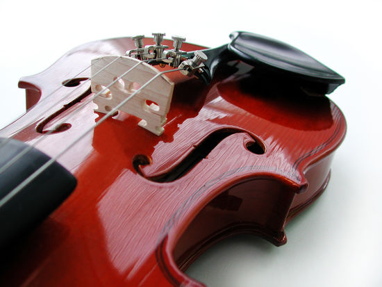 Arts Culture And Entertainment Brown Classical Music Close-up Focus On Foreground Indoors  Music Musical Equipment Musical Instrument Musical Instrument String No People Single Object Still Life String String Instrument Studio Shot Two Objects Violin White Background Wood - Material
