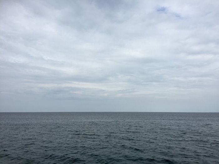 View at the Baltic Sea from the beach in Boltenhagen Cloudy Sky Horizontal Beauty In Nature Day Horizon Line Horizon Over Water Landscape Moody Nature No People Outdoors Scenics Sea Seascape Sky Sky Cöods Water
