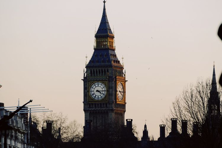 EyeEm Selects Clock Tower Architecture Tower Building Exterior Built Structure Clock Time Travel Destinations No People History Outdoors Sky Day Clear Sky Clock Face City Minute Hand EyeEm LOST IN London