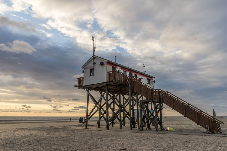 Sankt Peter-Ording Architecture Beach Beauty In Nature Building Exterior Built Structure Cloud - Sky Day Horizon Over Water Lifeguard Hut Nature No People Outdoors Sand Scenics Sea Sky Sunset Tranquil Scene Tranquility Travel Destinations Water